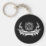 Firefighter Tattoo Key Chains