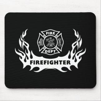 Firefighter Tattoo Mouse Mat