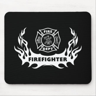 Firefighter Tattoo Mouse Pad