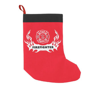 Firefighter Tattoos Small Christmas Stocking