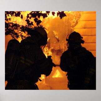 Firefighter Team Poster