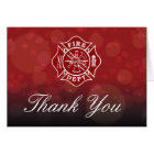 Firefighter Thank You Greeting Card