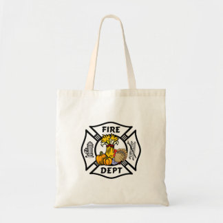 Firefighter Thanksgiving Tote Bag