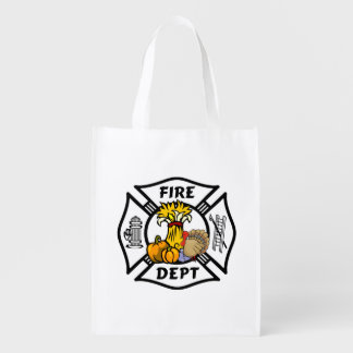 Firefighter Thanksgiving Grocery Bags