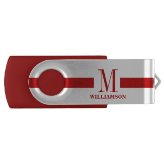 Firefighter Thin Red Line Custom Monogram USB Flash Drive