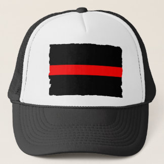 Firefighter Thin Red Line Trucker Hat