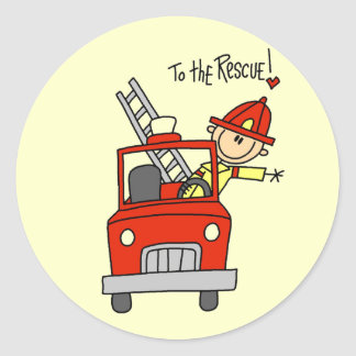 Firefighter To the Rescue Tshirts and Gifts Classic Round Sticker