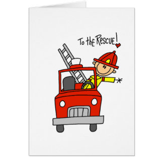 Firefighter To the Rescue Tshirts and Gifts Greeting Card