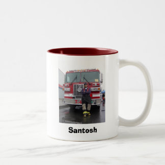 Firefighter Two-Tone Coffee Mug