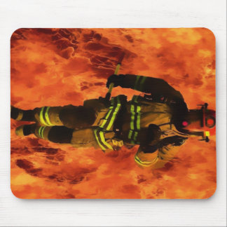 Firefighter VS Flames Mouse Pad