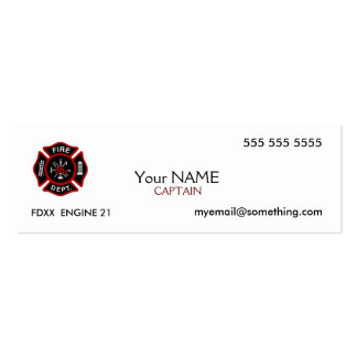 Firefighter White Business Cards
