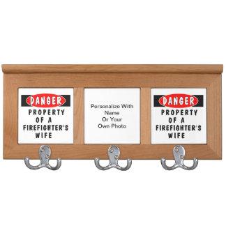 Firefighter Wife Coat Rack