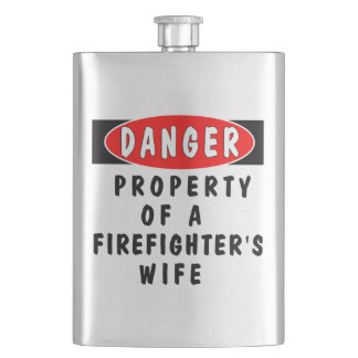 Firefighter Wife Hip Flask