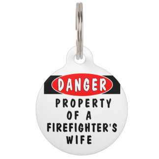 Firefighter Wife Pet Nametag
