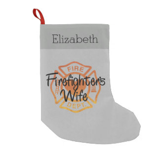 Firefighter Wife Small Christmas Stocking