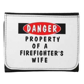 Firefighter Wife Leather Trifold Wallet