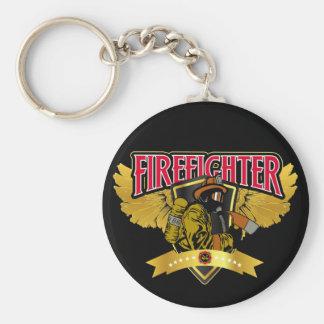Firefighter Wings Key Ring