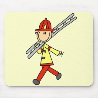 Firefighter with Ladder Tshirts and Gifts Mouse Pad