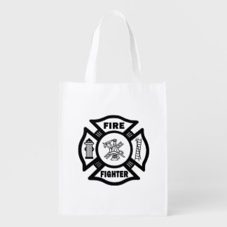 Firefighter Reusable Grocery Bag