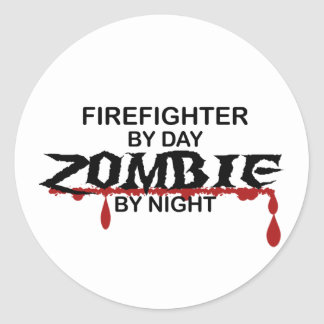 Firefighter Zombie Stickers