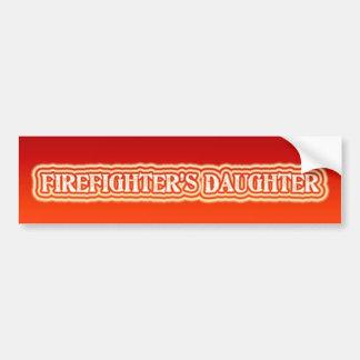 Firefighter's Daughter Bumper Sticker