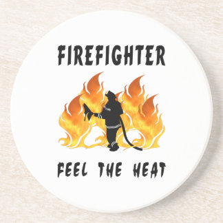 Firefighters Feel The Heat Beverage Coasters