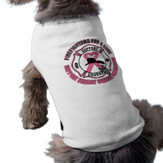 Firefighters For A Cure Breast Cancer Sleeveless Dog Shirt