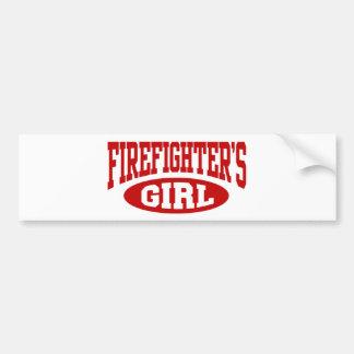Firefighter's Girl Bumper Sticker
