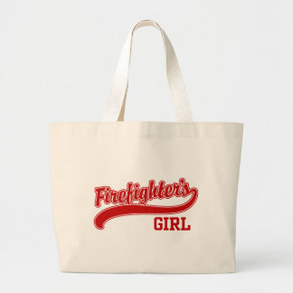 Firefighter's Girl Large Tote Bag