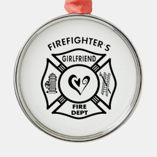 Firefighter's Girlfriend Christmas Ornament