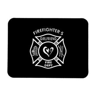 Firefighter's Girlfriend Vinyl Magnet