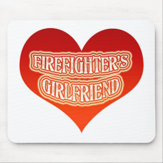 Firefighter's Girlfriend Mouse Pad