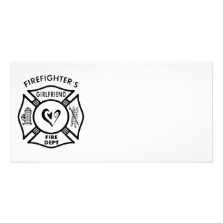 Firefighter's Girlfriend Photo Greeting Card