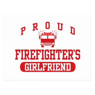 Firefighter's Girlfriend Postcard