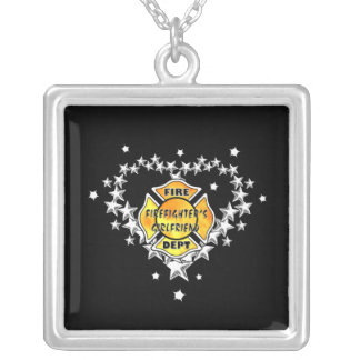 Firefighters Girlfriend Tattoo Necklaces