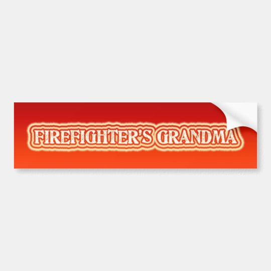 Firefighter's Grandma Bumper Sticker