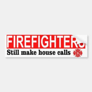 FIREFIGHTERS HOUSE CALLS BUMPER STICKER