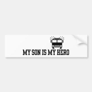 Firefighter's Mom Dad Bumper Sticker