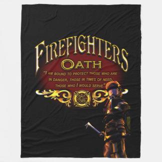 Firefighters Oath Fleece Blanket