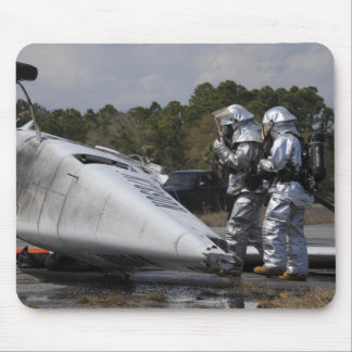 Firefighters respond to the scene mouse pad