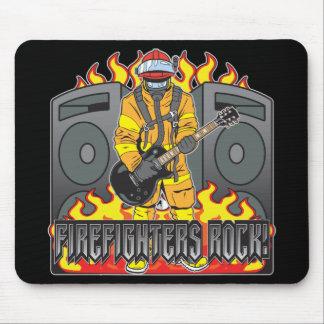 Firefighters Rock Guitar Mouse Mat