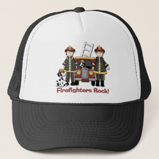 Firefighters Rock Trucker Hat