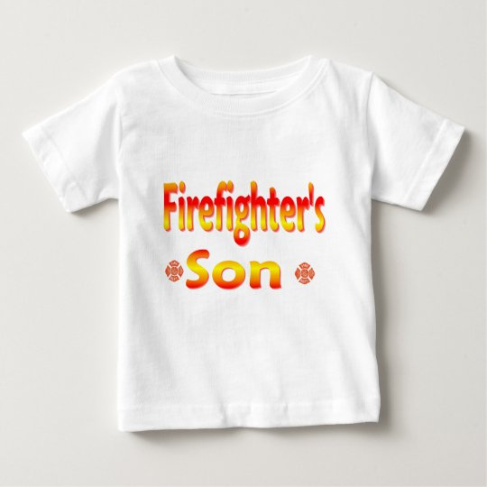 firefighters son baby T-Shirt