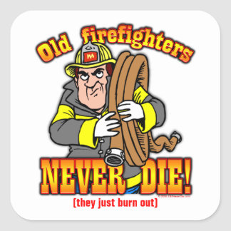 Firefighters Square Stickers
