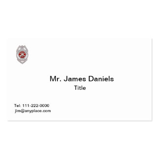 Firefighter's Wife Badge Business Card