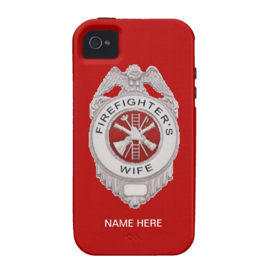 Firefighter's Wife Badge iPhone 4 Covers