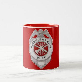 Firefighter's Wife Badge Coffee Mugs