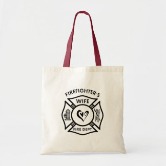Firefighter's Wife Canvas Bag