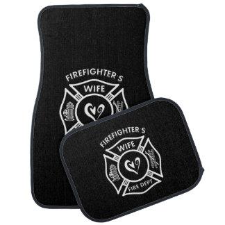 Firefighters Wife Car Mat