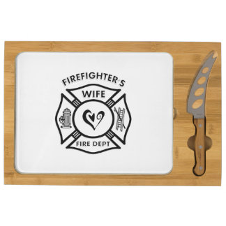 Firefighters Wife Rectangular Cheese Board